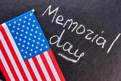 Amerikaanse vlag op zwarte achtergrond Royalty-vrije Stock Afbeeldingen