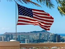 Amerikaanse vlag punchbowl stock foto's