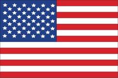Amerikaanse vlag van de Verenigde Staten Royalty-vrije Stock Afbeelding