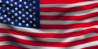 Amerikaanse Vlag Vector illustratie stock afbeelding