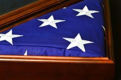 Amerikaanse Vlag in Vitrine Royalty-vrije Stock Foto