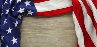 Amerikaanse vlag voor Herdenkingsdag of van de Veteraan` s dag achtergrond Royalty-vrije Stock Afbeeldingen