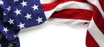 Amerikaanse vlag voor Herdenkingsdag of van de Veteraan` s dag achtergrond Stock Afbeeldingen