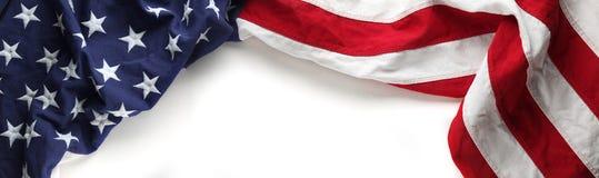 Amerikaanse vlag voor Herdenkingsdag of van de Veteraan` s dag achtergrond Stock Foto