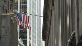 Amerikaanse Vlag Wolkenkrabbers van New York stock video