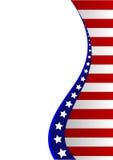 Amerikaanse vlagachtergrond Stock Fotografie