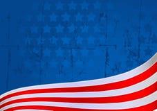 Amerikaanse vlagachtergrond Stock Afbeeldingen
