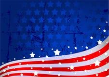 Amerikaanse vlagachtergrond Stock Afbeelding