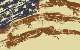 Amerikaanse vlagachtergrond stock illustratie