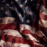 Amerikaanse vlagachtergrond met vuil en bloed Stock Foto
