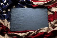 Amerikaanse vlagachtergrond voor Memorial Day of 4 van Juli Stock Foto