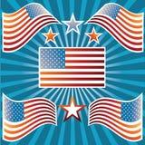 Amerikaanse Vlaggen Stock Illustratie