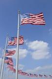 Amerikaanse Vlaggen Royalty-vrije Stock Afbeeldingen