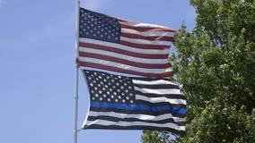 Amerikaanse Vlaggen Royalty-vrije Stock Fotografie