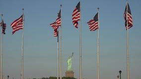 Amerikaanse Vlaggen, Verenigde Staten, vierde van Juli stock video