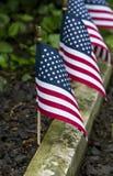 Amerikaanse Vlaggenlijn de Tuinweg stock afbeeldingen