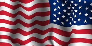 Amerikaanse vlaggolf Vector illustratie stock foto's