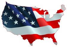 Amerikaanse vlagkaart Royalty-vrije Stock Foto's