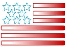 Amerikaanse vlagknopen Stock Foto