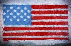 Amerikaanse vlagmuurschildering royalty-vrije stock foto