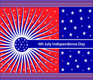 Amerikaanse vlagsterren en swirly strepen Stock Afbeelding