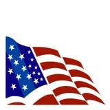 Amerikaanse vlagvector Royalty-vrije Stock Foto