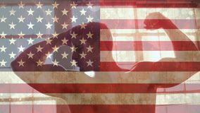 Amerikaanse vlagvideo stock video