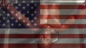 Amerikaanse vlagvideo stock videobeelden