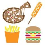 Amerikaanse Voedsel Vastgestelde groot voor om het even welk gebruik, Vectoreps10 Royalty-vrije Stock Afbeeldingen