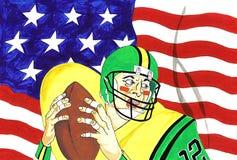 Amerikaanse Voetbal stock illustratie