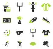 Amerikaanse voetbal eenvoudig pictogrammen Royalty-vrije Stock Fotografie