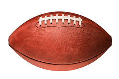 Amerikaanse voetbal op wit Royalty-vrije Stock Afbeelding