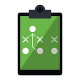 Amerikaanse voetbal van het raads de tactische diagram stock illustratie