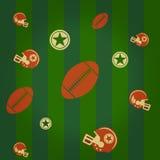 Amerikaanse voetbalachtergrond Royalty-vrije Stock Afbeeldingen