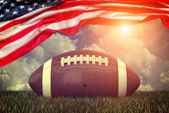 Amerikaanse voetbalbal Royalty-vrije Stock Afbeelding