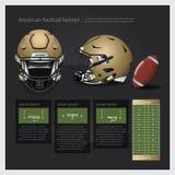 Amerikaanse voetbalhelm met teamplan Stock Foto