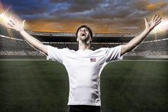 Amerikaanse voetballer Stock Foto