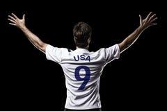 Amerikaanse voetballer Stock Afbeeldingen