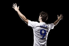 Amerikaanse voetballer Stock Afbeelding