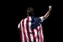 Amerikaanse voetballer Royalty-vrije Stock Afbeeldingen