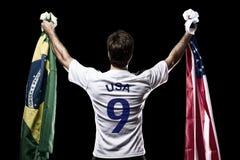 Amerikaanse voetballer Stock Fotografie