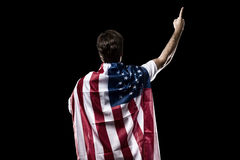 Amerikaanse voetballer Stock Foto's