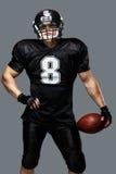 Amerikaanse voetbalster Royalty-vrije Stock Afbeelding
