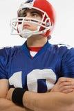 Amerikaanse voetbalster Royalty-vrije Stock Afbeeldingen