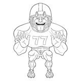Amerikaanse voetbalster stock illustratie