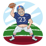 Amerikaanse voetbalster die met een bal dansen vector illustratie