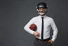 Amerikaanse voetbalster in zaken Stock Afbeelding