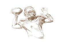 Amerikaanse voetbalsters Stock Afbeelding