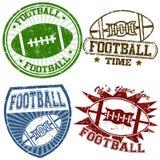 Amerikaanse voetbalzegels Stock Afbeelding