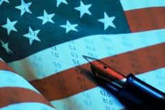 Amerikaanse Voorraadgrafiek Stock Foto